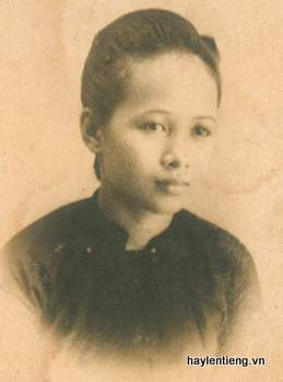 Ảnh bà Lê Thị Huệ lúc còn trẻ