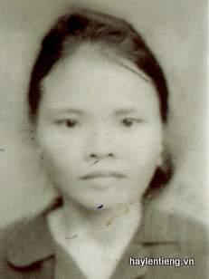 Ảnh bà Trương Thị Nguyệt lúc trẻ
