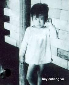 Chị Lê Thị Liễu lúc nhỏ