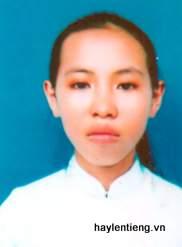 Em Phạm Thị Bích Hằng trước khi bỏ đi