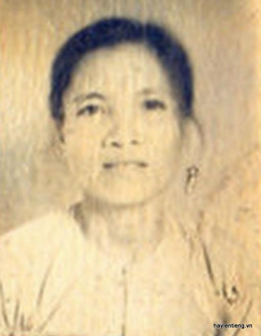 Bà Trần Thị Hiền (lúc trẻ)